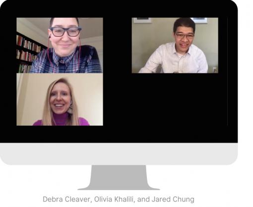 Debra Cleaver, Olivia Khalili, and Jared Chung speak at Accelerate Good Global: Virtual Edition.