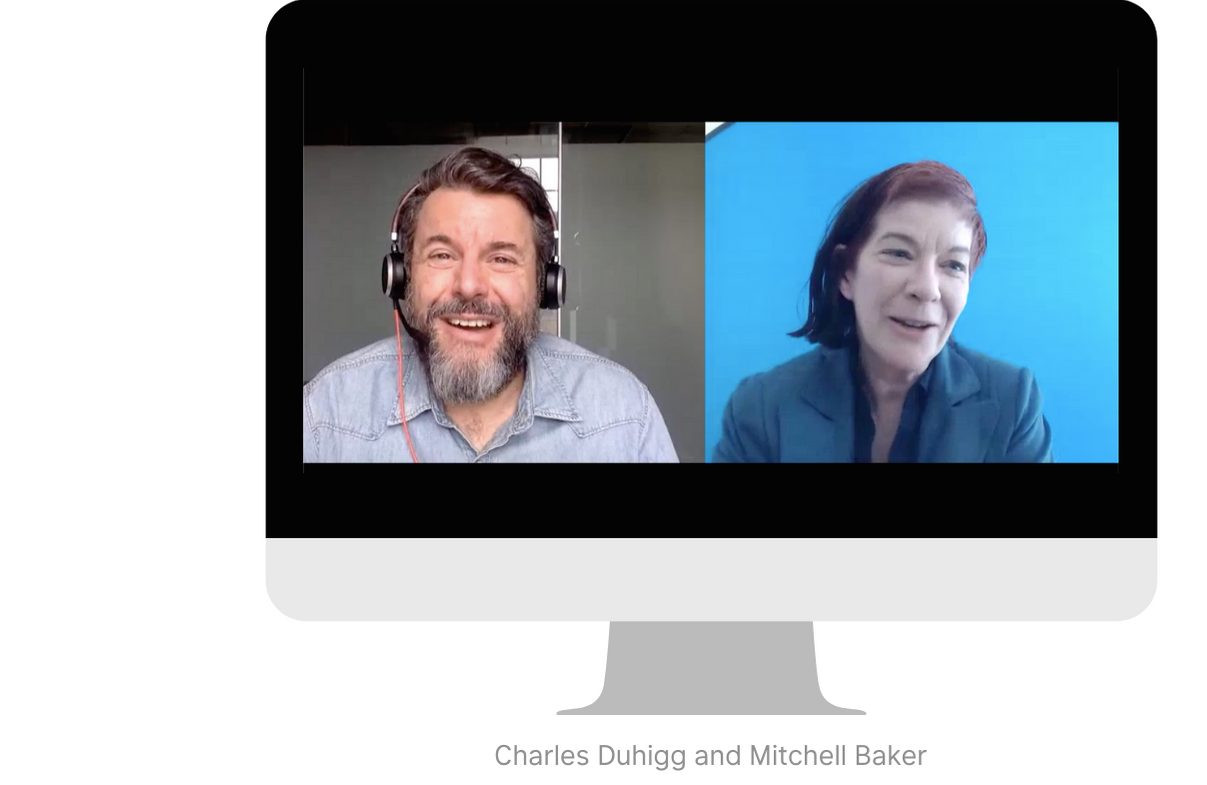 Charles Duhigg and Mitchell Baker speak at Accelerate Good Global: Virtual Edition.